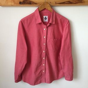 Tradlands Red Button Down Oxford Shirt